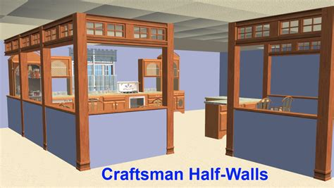 craftsman home interior mod the sims craftsman half walls