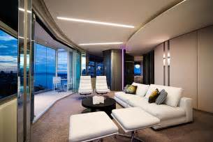 modern apartment interior design in warm and glamour style digsdigs