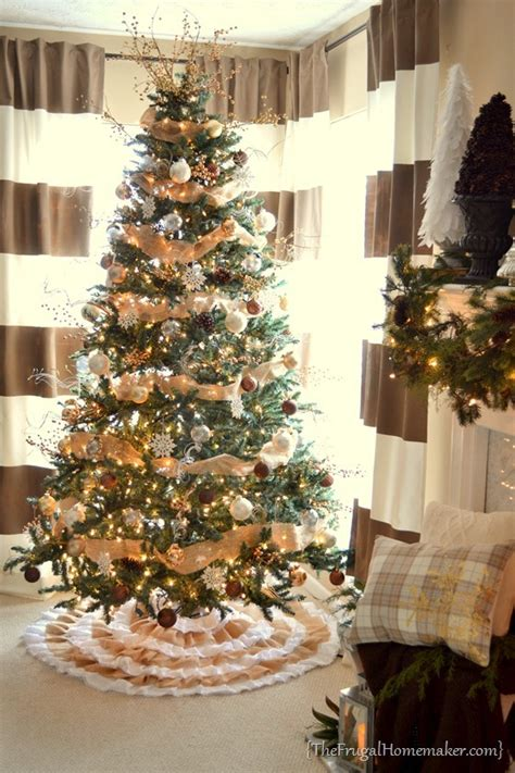 diy burlap lace christmas tree skirt