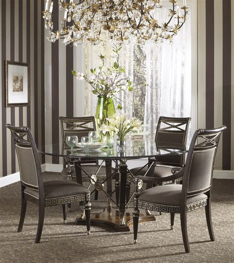 buy  belvedere dining room set  ground glass table