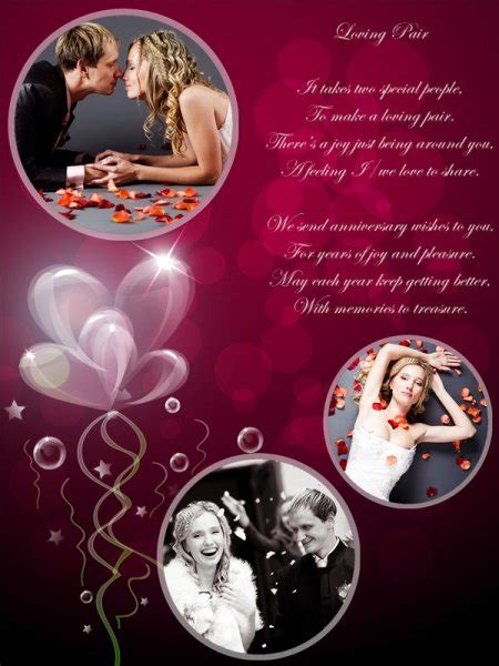 Anniversary Collage / Card Add on Templates Download Free