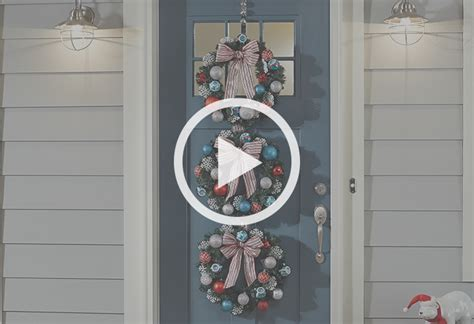 how to make a christmas door hanging on youtube make a wreath door hanger at the home depot