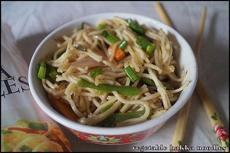 hakka cuisine recipes vegetable hakka noodles recipes nithyaskitchen