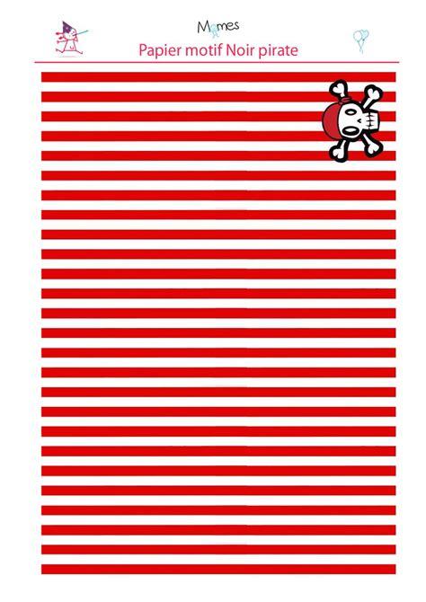 papier de pirate  imprimer rouge enfants pirate