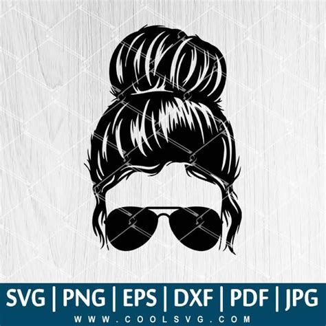 They are also a great way to decorate apparel, tote bags, signs, and much more. Messy Bun With Glasses SVG - Messy Hair Bun SVG - Messy ...