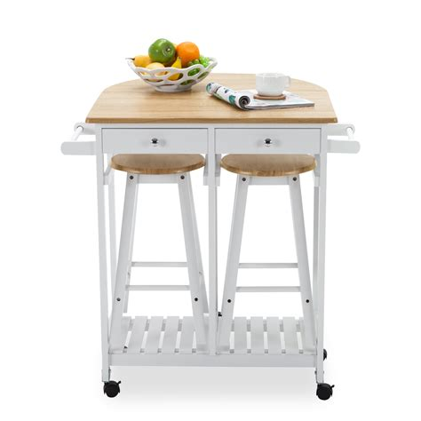 kitchen cart dining table oak kitchen island cart trolley storage dining table 2 bar