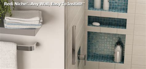tile redi niche thinset redi niche 174 recessed shower niche provides the convenience