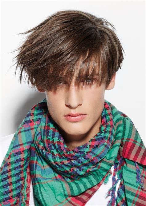 mens haircut   long fringe  angled sides