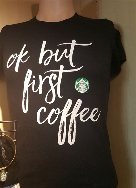 52% cotton / 48% polyester. Ok but first coffee t-shirt and more. Must-have t-shirt. - StarbucksMelody.com