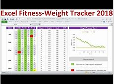 Excel Fitness Tracker and Weight Loss Tracker for 2018