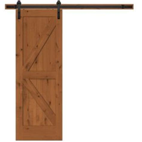 home hardware doors interior steves sons 30 in x 84 in rustic 2 panel stained knotty alder interior barn door slab with