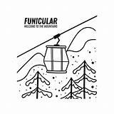 Skitoevlucht Skidlift Ascensore Gondola Funicular Skilift Funicolare Skidar Bergbana Klotterstil Kabiner Stora Kabelbaan Cabines Krabbelstijl sketch template