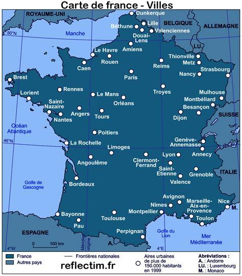 Carte De Avec Principales Villes A Imprimer by Recherche Ville Sur Carte De My