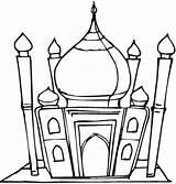 Mosque Masjid Coloring Mewarnai Pages Gambar Clipart Islamic Cliparts Clip Outline Template Colouring Muslim Studies Printable Sketch Clipartbest sketch template