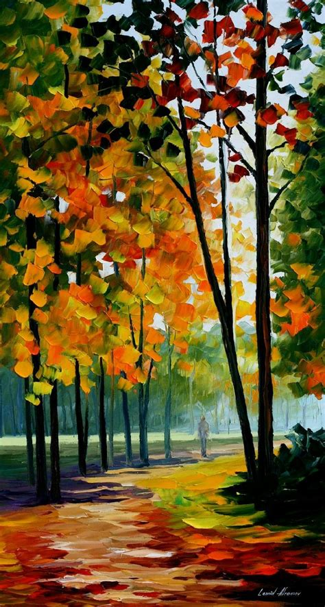 hot noon   forest palette knife oil painting