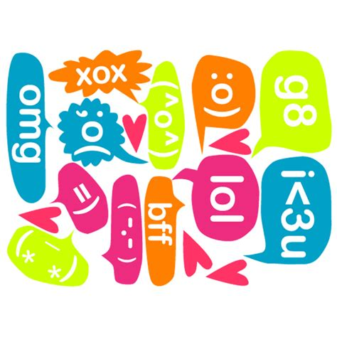 word balloons and texting speech bubbles removable fabric wall stickers