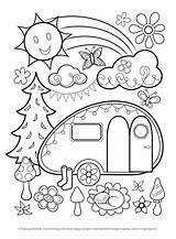 Coloring Pages Thaneeya Happy Rv Thundermans Campers Trailer Camping Truck Sheets Printable Adult Colouring Mcardle Summer Speed Need Cute Retro sketch template