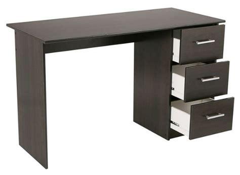 bureau c discount cdiscount bureau 121 cm 3 tiroirs à 49 99