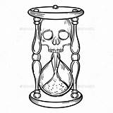 Hourglass Tattoo Outlines Coloring Sketch Pages Template sketch template
