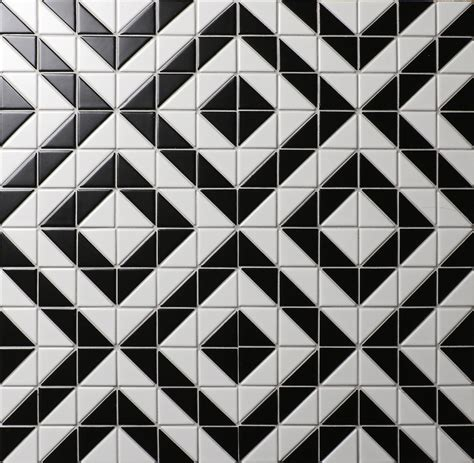 black white tile patterns 2 matte black white porcelain triangle tile flooring for sale usa ant tile