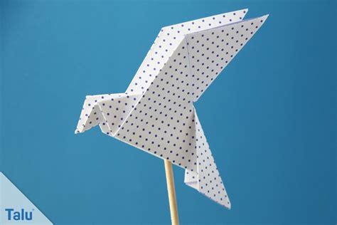 origami friedenstaube basteln taube falten anleitung