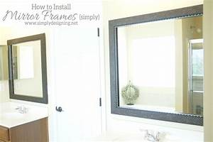 how to install a bathroom mirror frame the video With how to install a bathroom mirror