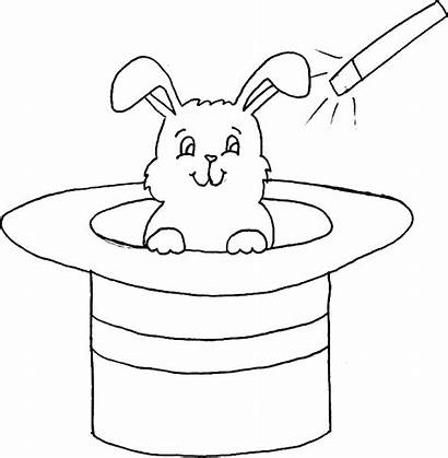Hat Rabbit Magician Coloring