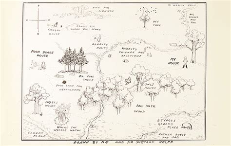 E.h. Shepard's Original Map Of The Hundred Acre Wood From