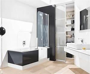Badewanne Mit Dusche Kombiniert : begehbare badewanne mit dusche und t r in eine rechteckige form und modernes design f r kleine ~ Sanjose-hotels-ca.com Haus und Dekorationen