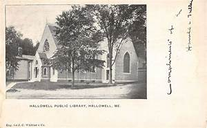 Hallowell maine public library private mail antique