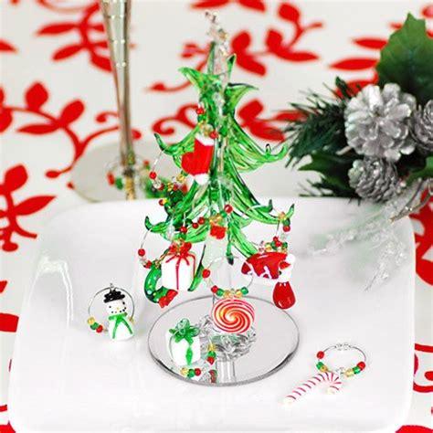 mini crystal wine charm tree