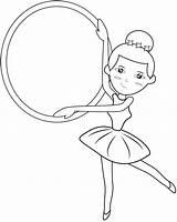 Coloring Ballerina Belly Dance Ballet Dancer Getcolorings sketch template