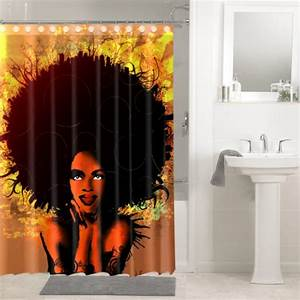 Afrocentric Afro Hair Design African #643 Shower Curtain