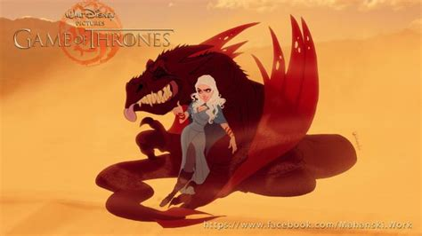 game  thrones characters turned disney