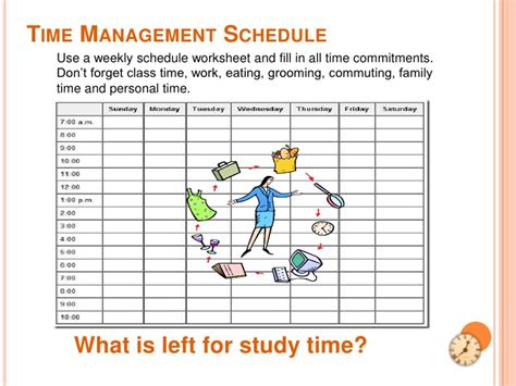 time management schedule template for high school students time management