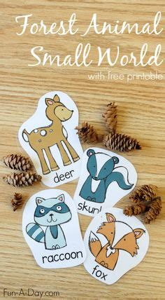forest animals picture word bank  picture cards fall