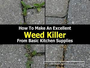 How To Basic : how to make an excellent weed killer from basic kitchen supplies ~ Buech-reservation.com Haus und Dekorationen