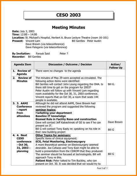 Meeting Minutes Template Meeting Minutes Sle Www Pixshark Images