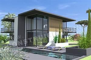 plan de maison contemporaine delta With modele plan de maison 1 maison contemporaine modele
