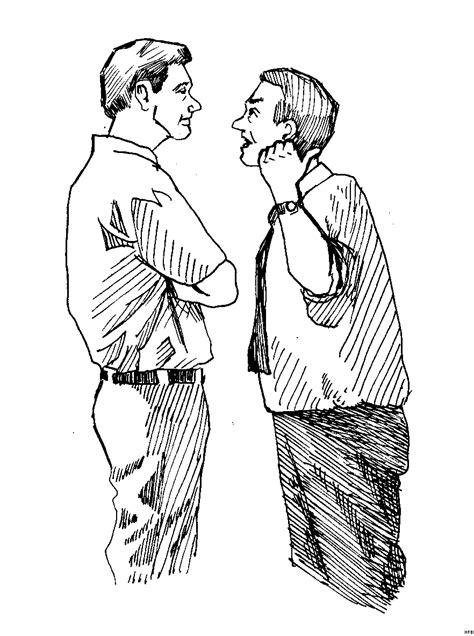 maenner diskutieren  ausmalbild malvorlage menschen