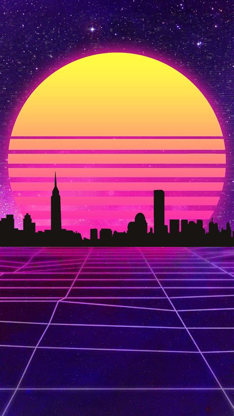 80s Neon Wallpaper Phone by Retrowave Wallpaper Mobile By Halukaliev On Deviantart