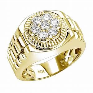 diamond rings 14k mens rolex style diamond ring 045ct With rolex wedding rings