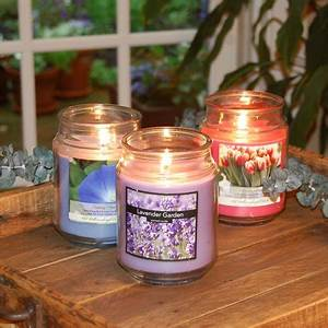 Floral Collection Scented Candles, 18 oz Apothecary Jar ...