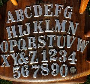 15 inch metal letters and numbers one and one half With how to press letters into metal