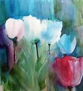 Aquarell Blumen Malen : tulpen aquarell hans jakob bopp watercolor aquarelle jopie bopp pinterest ~ Frokenaadalensverden.com Haus und Dekorationen