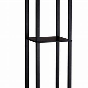 wood ladder wire baskets from firstofakindcom With ladder shelf floor lamp