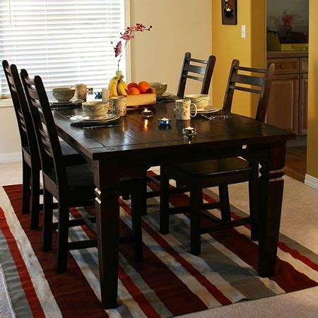 paint dining table  chairs  rust oleum kona brown