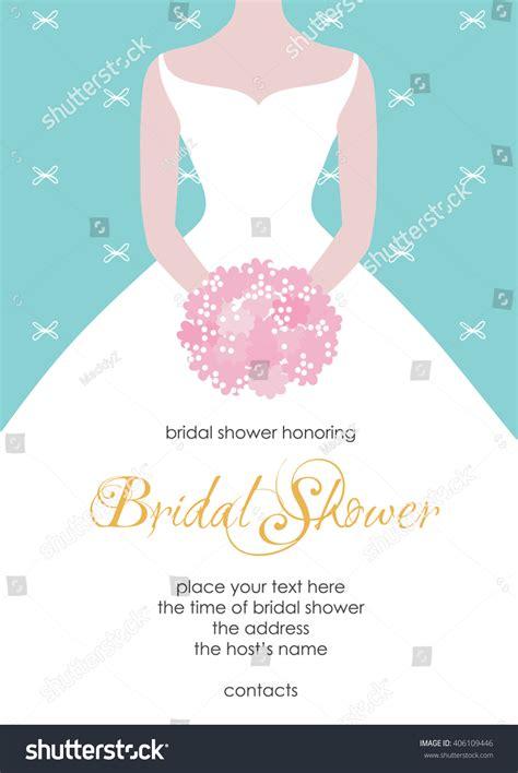 bridal shower invitation template beautiful bride stock