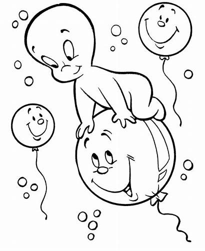 Coloring Pages Casper Ghost Halloween Fun Printable