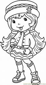 Coloring Ginger Snap Pages Huckleberry Pie Strawberry Shortcake Cartoon Characters Coloringpages101 Template sketch template